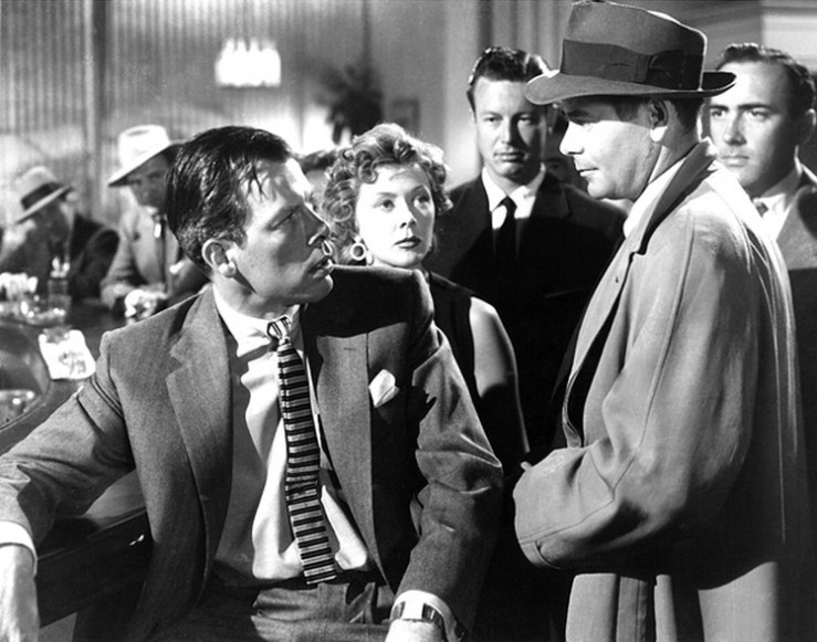 Big Heat - Lee Marvin, Gloria Grahame, Glenn Ford in bar