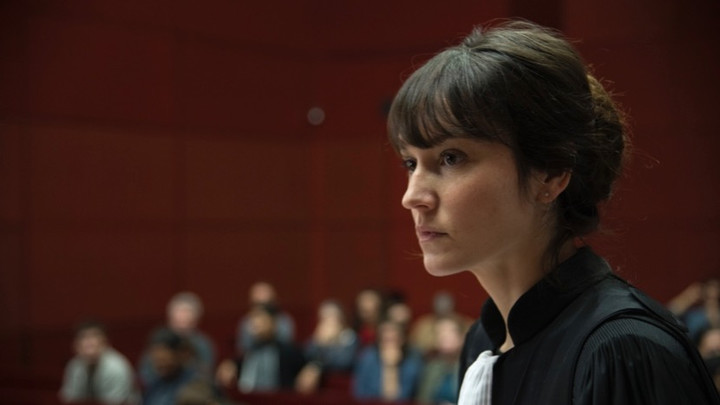 Anaïs Demoustier, the director's sister, as the ambitions and manipultive prosecutor in The Girl With A Bracelet