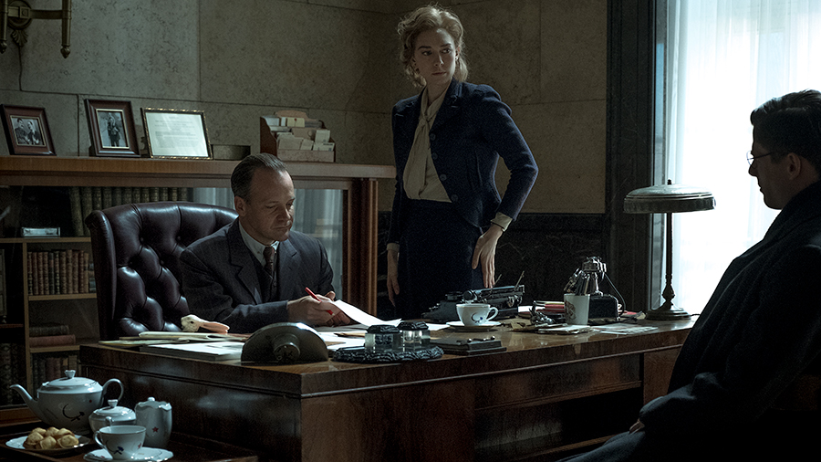 Peter Sarsgaard, James Norton, and Vanessa Kirby in Mr. Jones