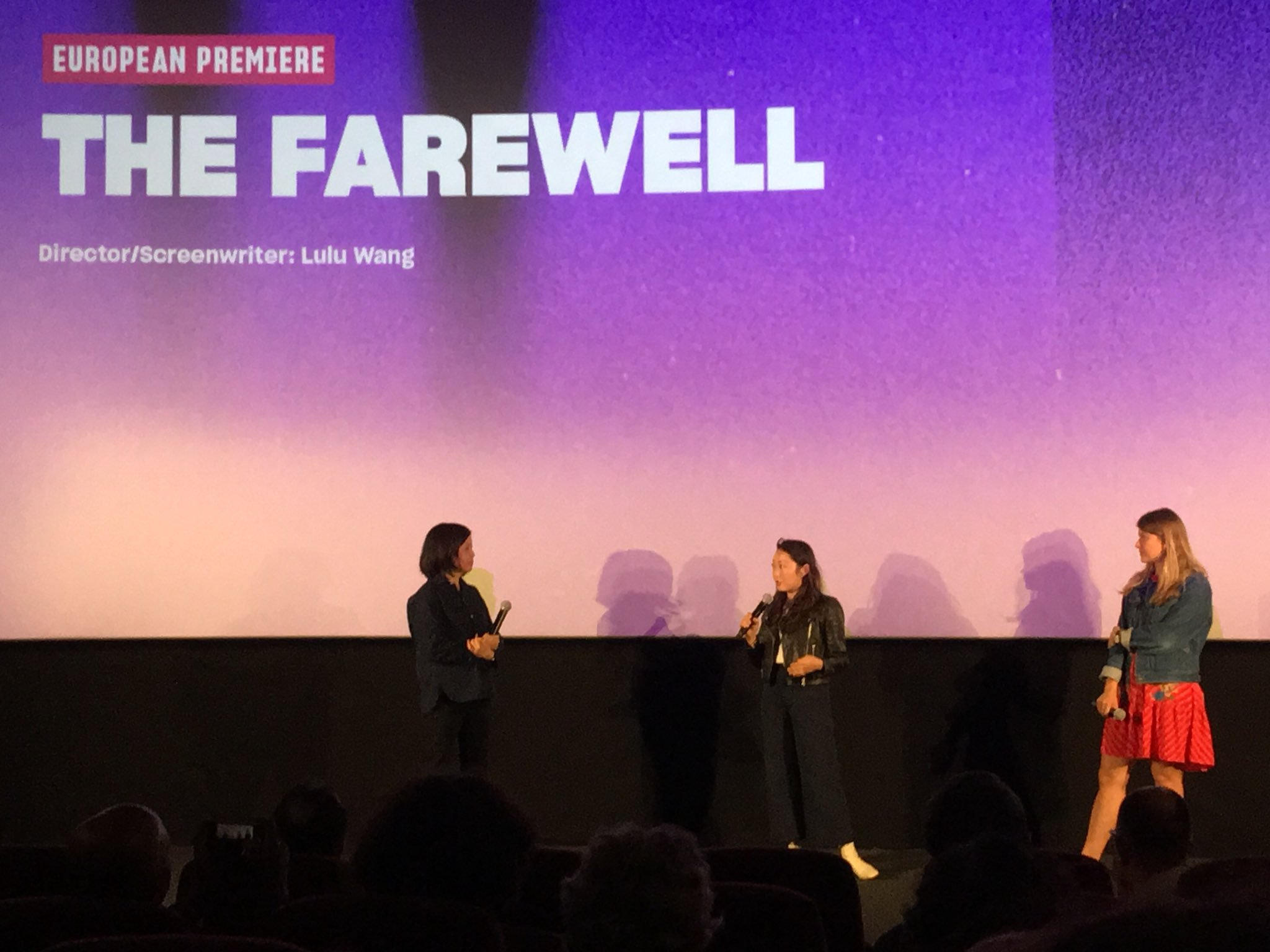 Lulu Wang discussing The Farewell at the European Premiere at Sundance London on 1st June 2019