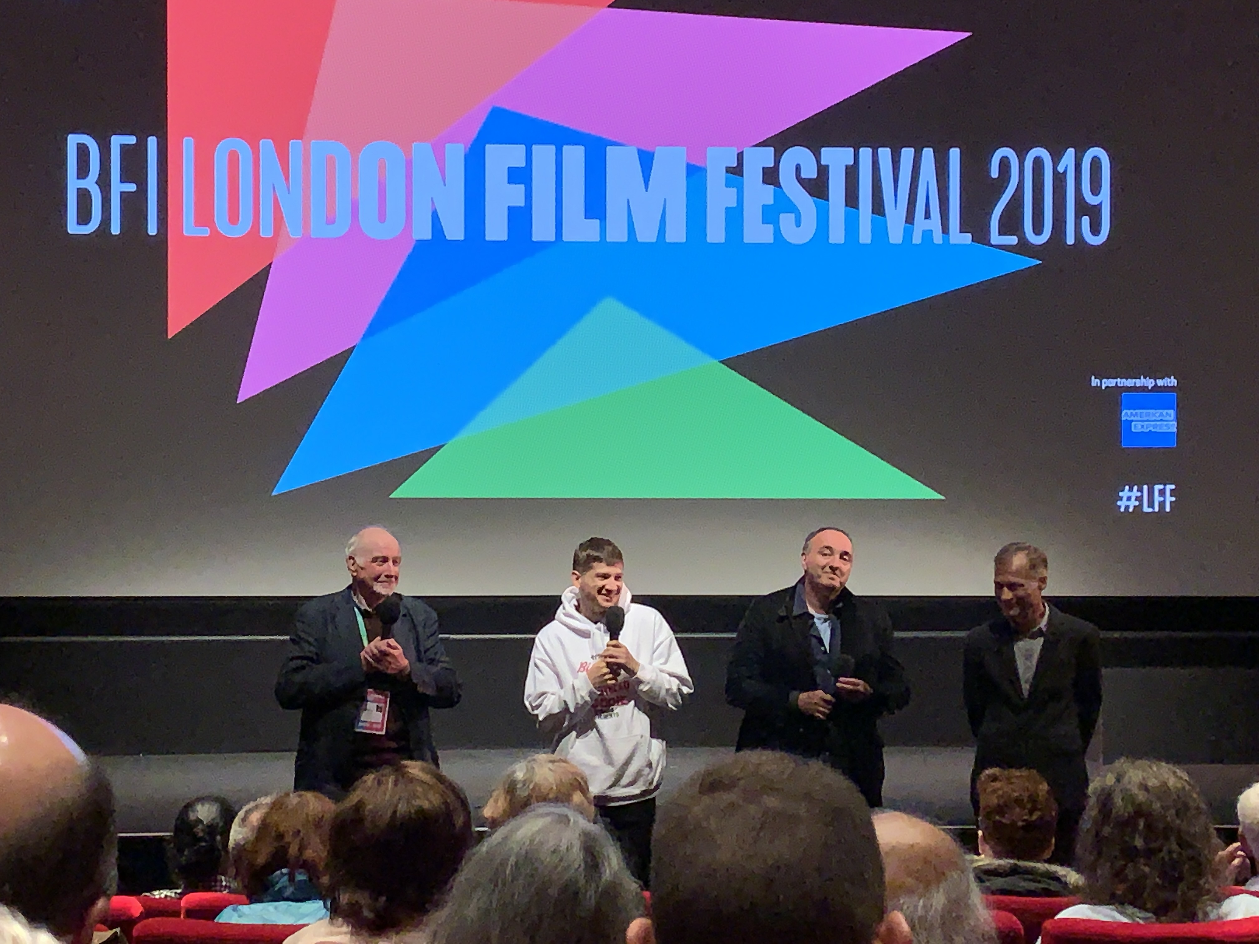 Director Kantemir Balagov and producer Sergey Melkumov at the London Film Festival on 4th October 2019
