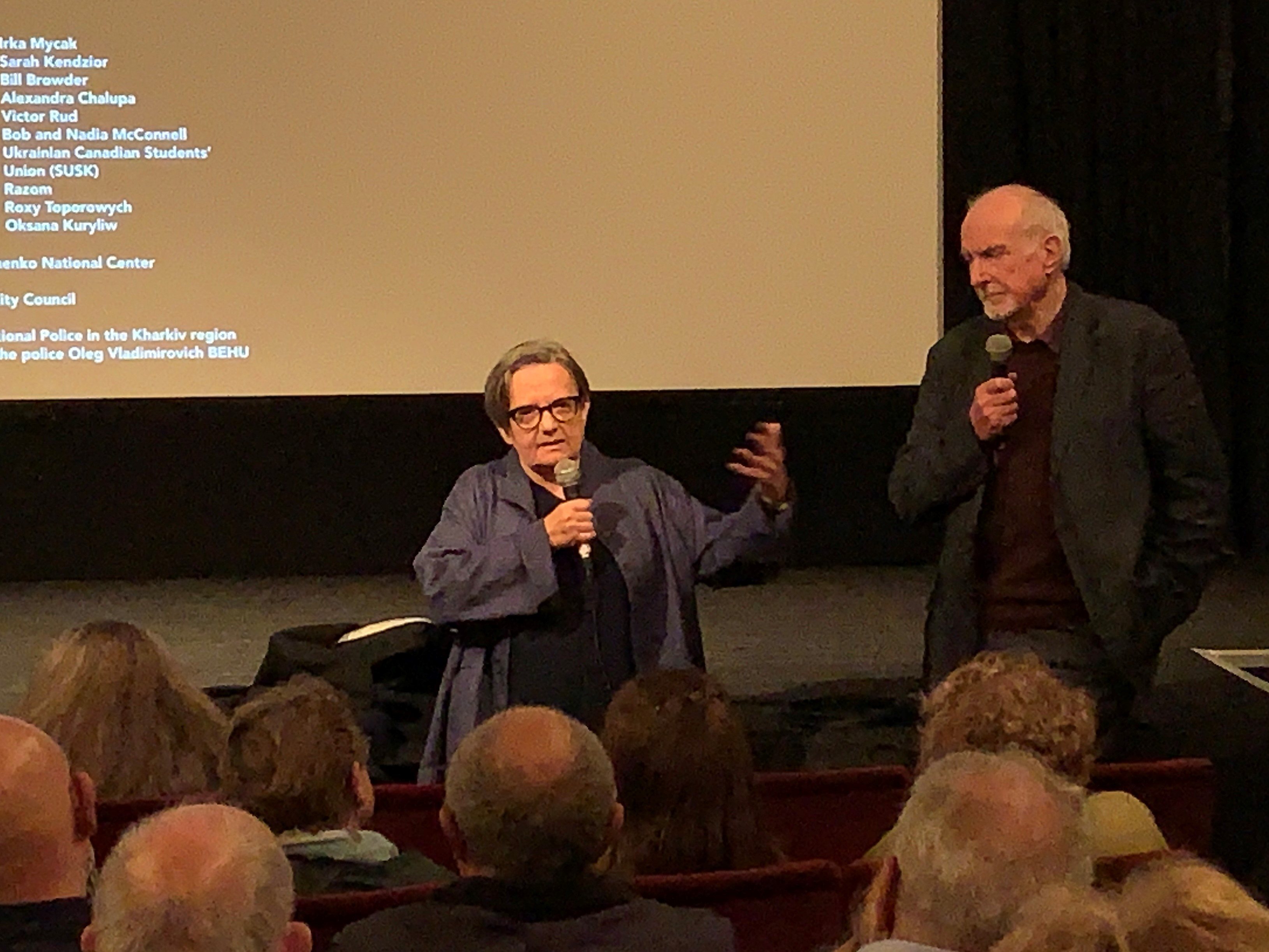 Agnieszka Holland discussing her film Mr Jones at the London Film Festival on 7th October 2019