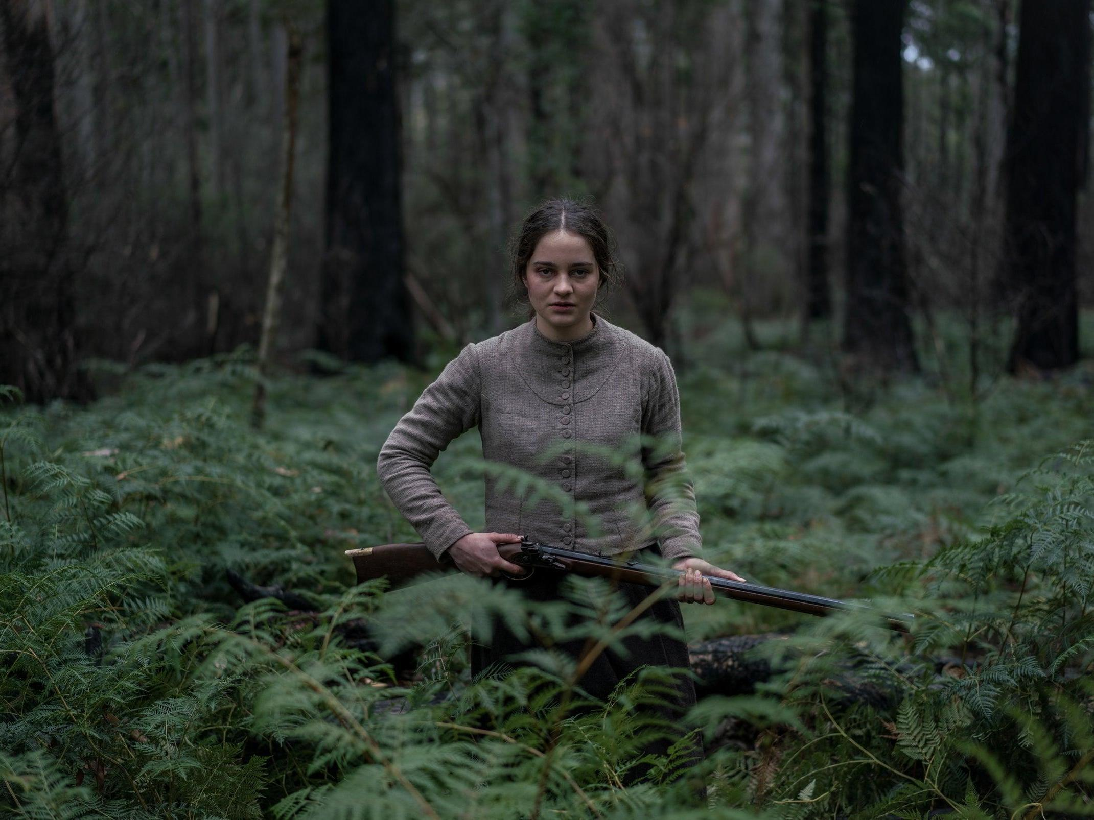 Aisling Franciosi as Clare Carroll seeks revenge in The Nightingale