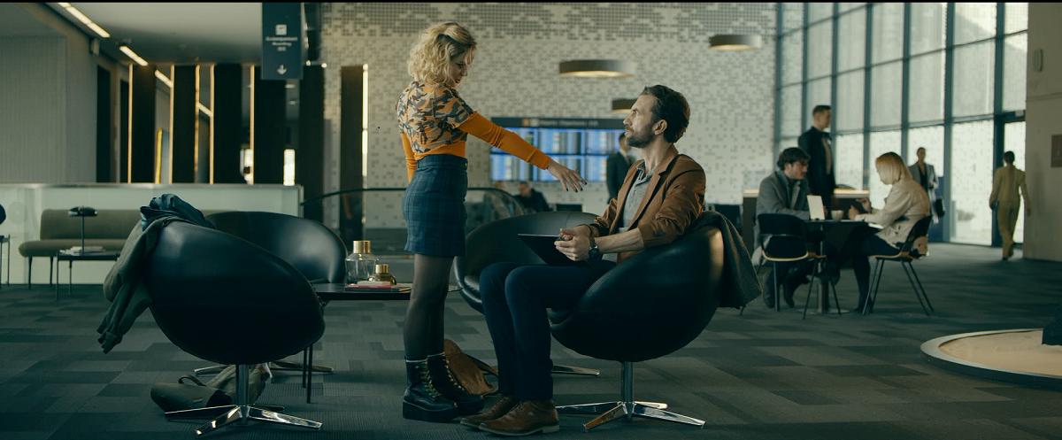Jeremiasz (Tomasz Kot) and Texel (Athena Strates) in A Perfect Enemy